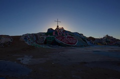 5K Timelapse of Sunrise over Famous Painted Landscape in Slab City  Stock Footage
