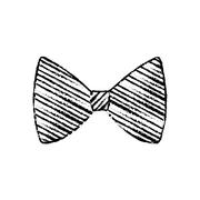 Isolated bow tie Stock Illustration