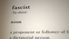 Fascist Definition Stock Footage