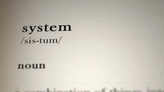 System Definition Stock Footage