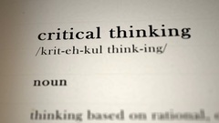 Crtical Thinking Definition Stock Footage