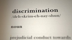Discrimination Definition Stock Footage