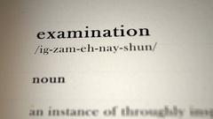 Examination Definition Stock Footage
