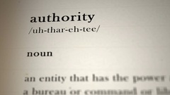 Authority Definition Stock Footage