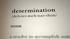 Determination Definition_animation Stock Footage