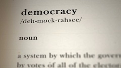 Democracy Definition Stock Footage