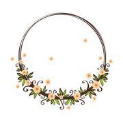 Beautiful flowers ornament Stock Illustration