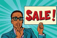 African businessman, the secret sale Stock Illustration