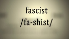 Definition: Fascist, animation Stock Footage