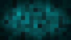 Deep Cyan, Black Fading Square Blocks Background Animation Stock Footage