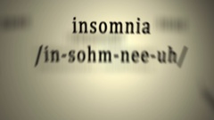 Definition: Insomnia, animation Stock Footage