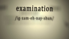 Definition: Examination, animation Stock Footage