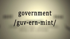 Definition: Government, animation Stock Footage