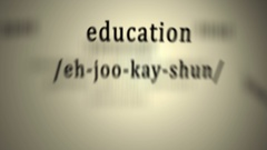 Definition: Education, animation Stock Footage