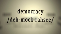 Definition: Democracy, animation Stock Footage