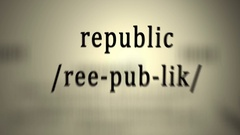 Definition: Republic, animation Stock Footage