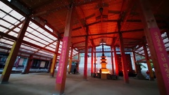 Bongeunsa temple with people pray in Seoul. Stock Footage