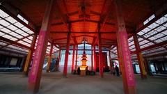 Believers pray in Bongeunsa temple in Seoul. Stock Footage