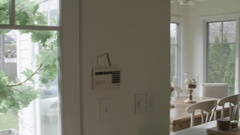Home Interior Pan to Kitchen Stock Footage