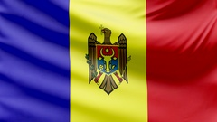 Realistic beautiful Moldova flag 4k Stock Footage