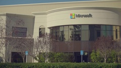 Microsoft Building Exterior Silicon Valley Stock Footage