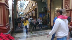 A Victorian Shopping Arcade Called The Block In Melbourne City Centre Australia Arkistovideo