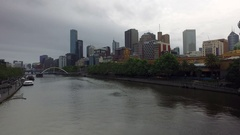 The Yarra River In Melbourne Seen From The Princes Bridge Bridge Stock Footage