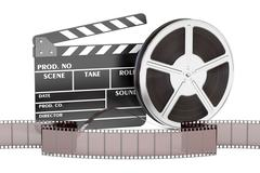Cinema, movie and cinematography concept, 3D rendering Stock Illustration