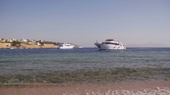 Beach in Egypt. Resort Red Sea Coast Stock Footage