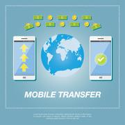 Money transfer vector concept. Stock Illustration