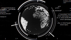 Global Tech Radar Warning 4K Loop Arkistovideo
