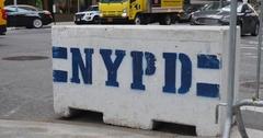 Temporary Cement Barricade Near Trump Tower in Manhattan   Stock Footage