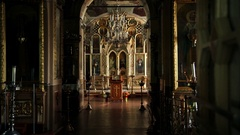 Iconostasis of an Orthodox church Stock Footage