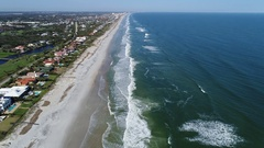 Flying Backwards (South) over Ponte Vedra Beach, Jacksonville Stock Footage