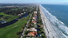 Flying South over Ponte Vedra Beach, Florida Stock Footage