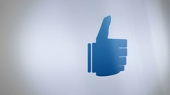Digital Thumbs Up Avatar on Phone Screen close up Stock Footage