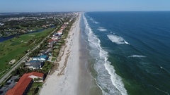 Flying over Ponte Vedra Beach, Florida Stock Footage