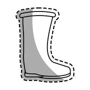 Boot of Industrial security design Stock Illustration