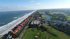 Short Flight over Jacksonville, Florida Stock Footage