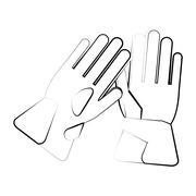 Glove of winter cloth design Stock Illustration