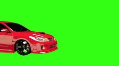 Animated Subaru WRX Passenger Side Stock Footage