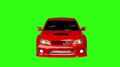 Animated Subaru WRX Front Stock Footage