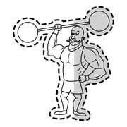 Isolated circus strength man design Stock Illustration