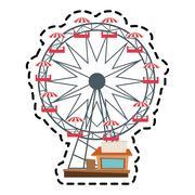 Isolated ferris wheel design Stock Illustration