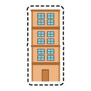 Isolated building tower design Stock Illustration
