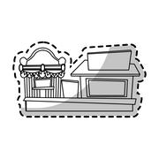 Isolated carnival tent and store design Stock Illustration