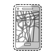 Smartphone with gps app design Piirros
