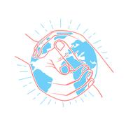 Icon protect the land Stock Illustration