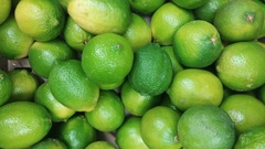 Shopping for Fruit in Super Market - Fresh Limes Stock Footage