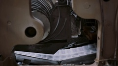 Printing establishment detail on production line with sound. Newspapers in the Stock Footage